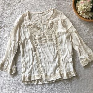 Gap White Embroidered Blouse